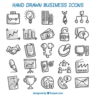 Hand getrokken business icons