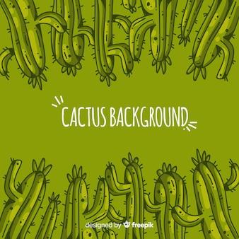 Hand getrokken cactus achtergrond