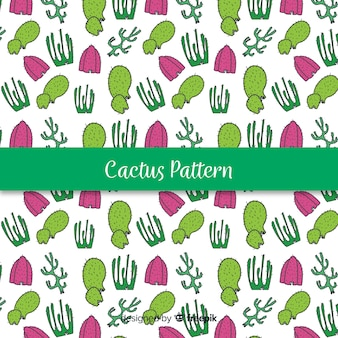 Hand getrokken cactus patroon achtergrond