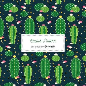 Hand getrokken cactus patroon