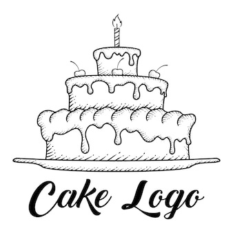 Hand getrokken cake