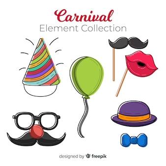 Hand getrokken carnaval element collectie