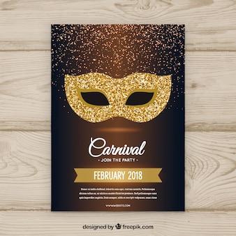 Hand getrokken carnaval partij flyer / poster