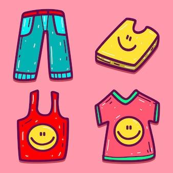 Hand getrokken cartoon doodle shirt design