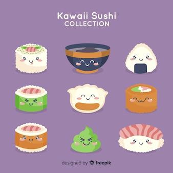 Hand getrokken charmante sushi-collectie