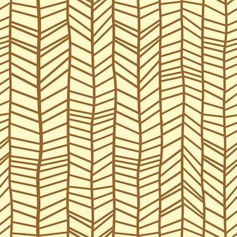 Hand getrokken chevron visgraat naadloze patroon