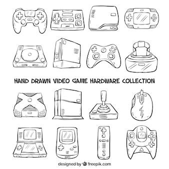 Hand getrokken consoles
