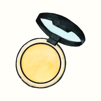 Hand getrokken cosmetisch product geïsoleerd op een witte achtergrond