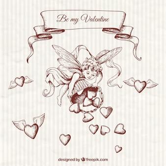 Hand getrokken cupido illustratie