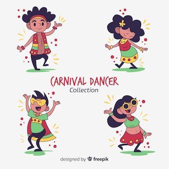 Hand getrokken danseres kinderen collectie