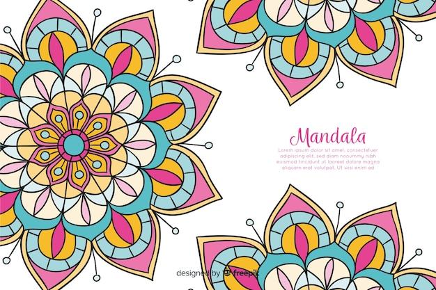 Hand getrokken decoratieve mandala achtergrond