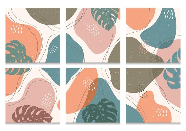 Hand getrokken dekking van verschillende vormen