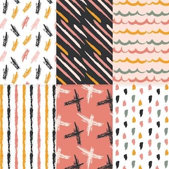 Hand getrokken design patroon collectie