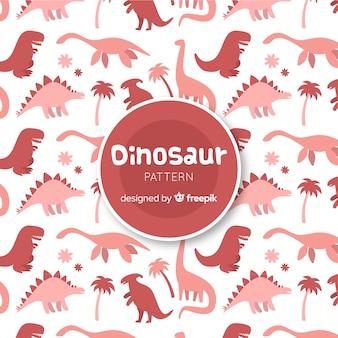 Hand getrokken dinosaurus silhouet patroon