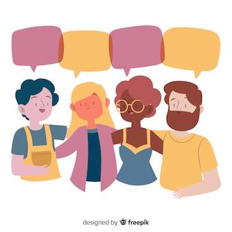 Hand getrokken diversiteit concept achtergrond
