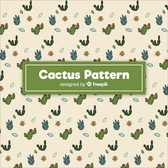 Hand getrokken doodle cactus patroon