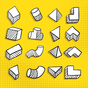 Hand getrokken doodle eenvoudige geometrische vorm