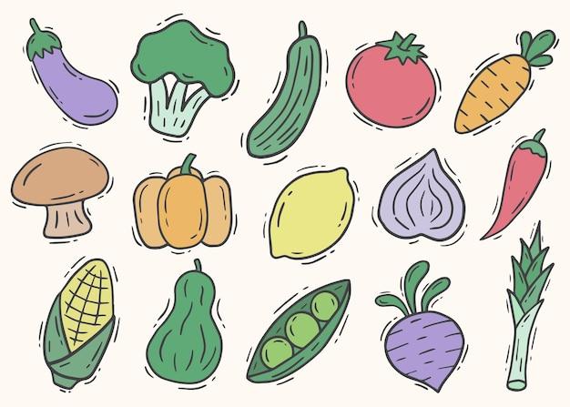 Hand getrokken doodle fruit en groenten element