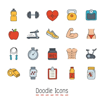 Hand getrokken doodle pictogram.
