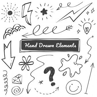Hand getrokken elementen