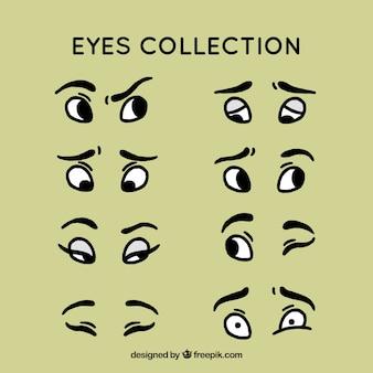 Hand getrokken eye collectie set