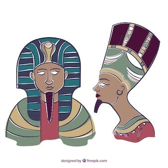 Hand getrokken farao
