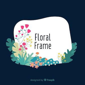 Hand getrokken floral frame achtergrond
