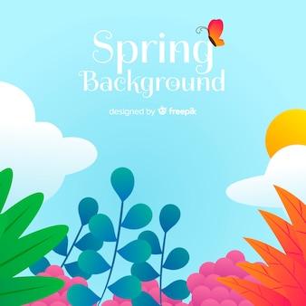 Hand getrokken floral lente achtergrond