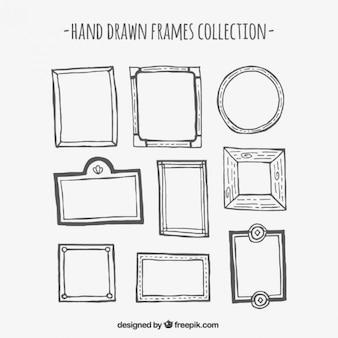Hand getrokken frame collection