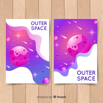 Hand getrokken galaxy poster