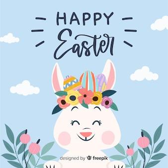 Hand getrokken gelukkige Pasen-dagachtergrond