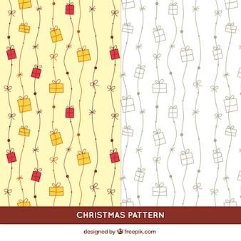Hand getrokken geschenken patroon
