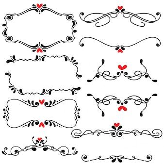 Hand getrokken geschetst lijn kunst vectorillustratie van de grenshuwelijk