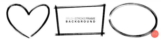 Hand getrokken grunge frames verschillende vorm.
