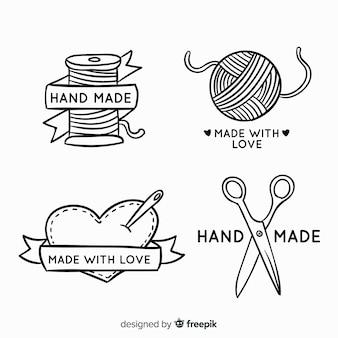 Hand getrokken hand gemaakt logo