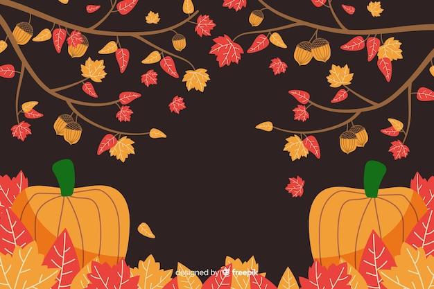 Hand getrokken herfst achtergrond
