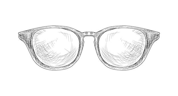 Hand getrokken hipster bril vectorillustratie