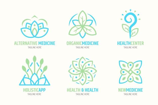 Hand getrokken holistische logo-collectie