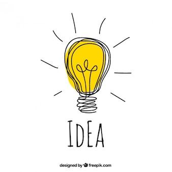 Hand getrokken idee concept