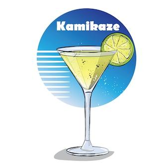 Hand getrokken illustratie van cocktail.