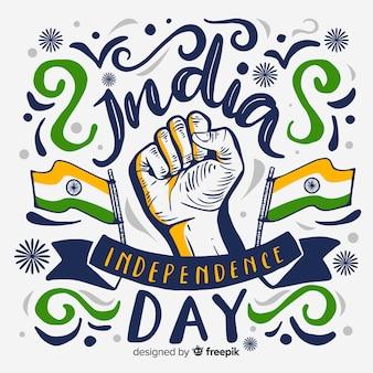 Hand getrokken india onafhankelijkheidsdag achtergrond
