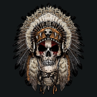 Hand getrokken indiase schedel