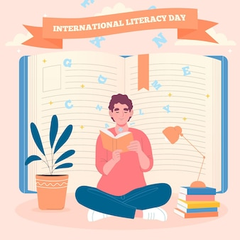 Hand getrokken internationale alfabetiseringsdag
