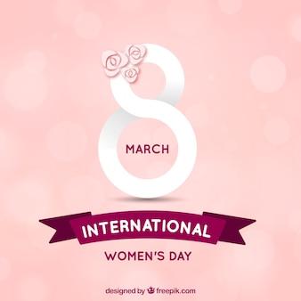 Hand getrokken internationale vrouwendag achtergrond