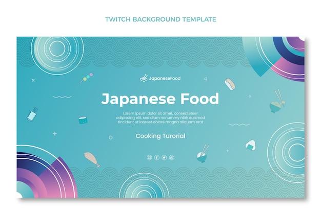 Hand getrokken japans eten twitch achtergrond