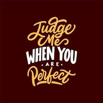 Hand getrokken kalligrafie en belettering typografie motiverende citaten