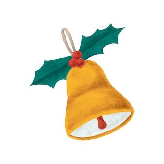 Hand getrokken kerst bel illustratie