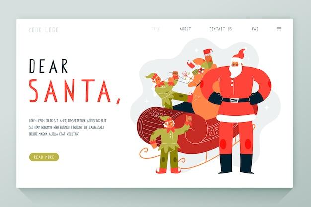 Hand getrokken kerst bestemmingspagina