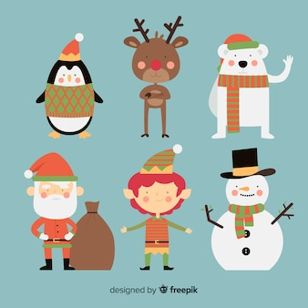 Hand getrokken kerst tekens collectie