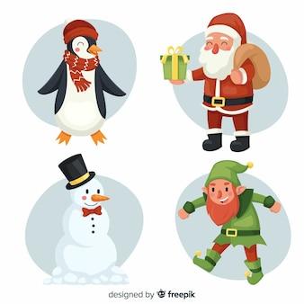Hand getrokken kerst tekens pack